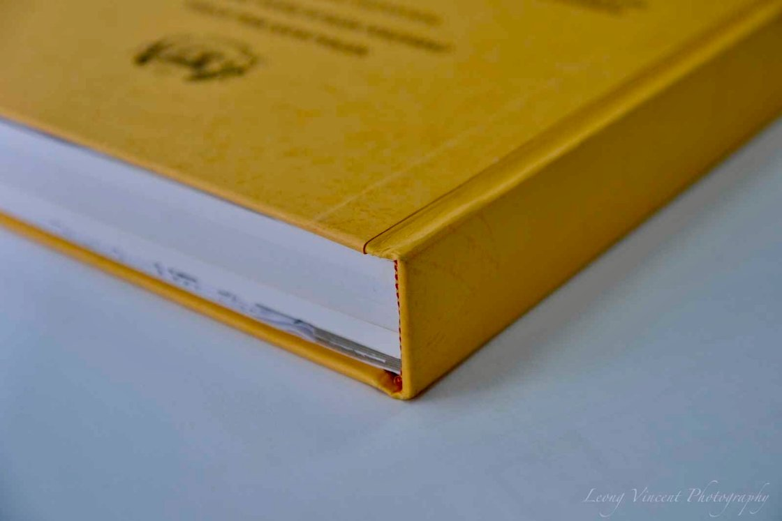 Hardcover binding service by Printing at Western Eastern Stationery photocopy shop