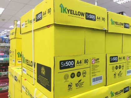 IK Yellow 80gsm A4 500 sheets online shopping office supply WesternEasternStationery.com Malaysia