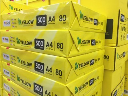 IK Yellow A4 Paper 80gsm 500 sheets rim online shopping office supply WesternEasternStationery.com Malaysia
