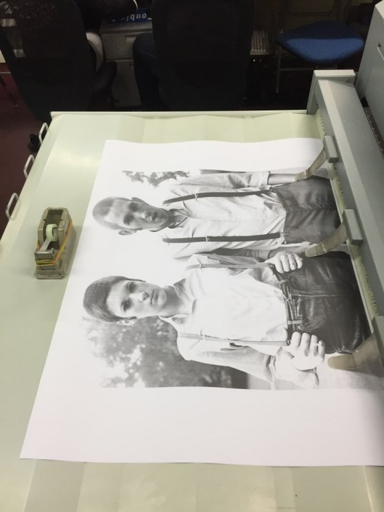 black and white large format poster printing in western eastern stationery kl